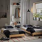 IKEA UTAKER Раскладная кровать с 2 матрасами, сосна, средней твердой Малфорс  (792.278.35), фото 9