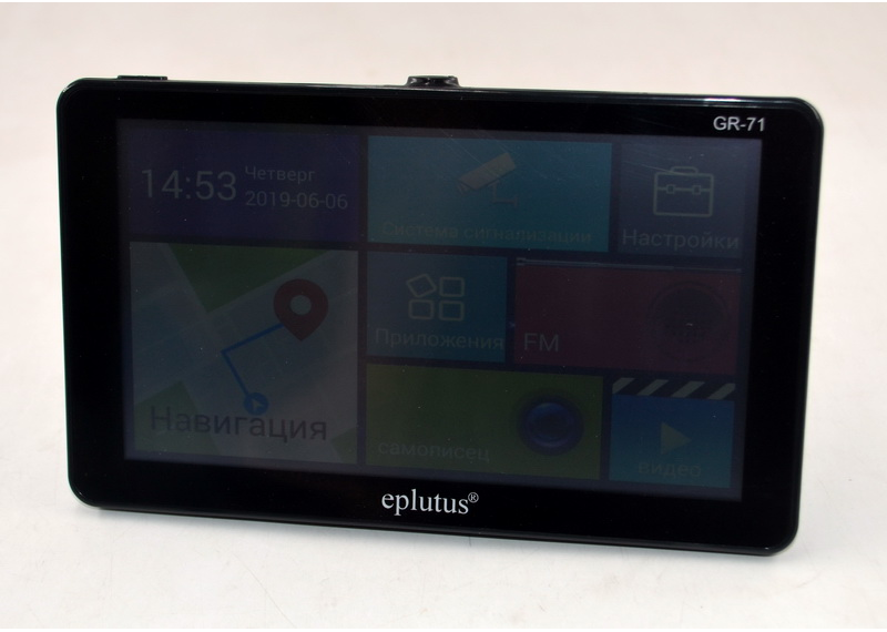"Навигатор с видеорегистратором и антирадаром на Android Eplutus GR-71 (7""/ RAM 512 Mb)"