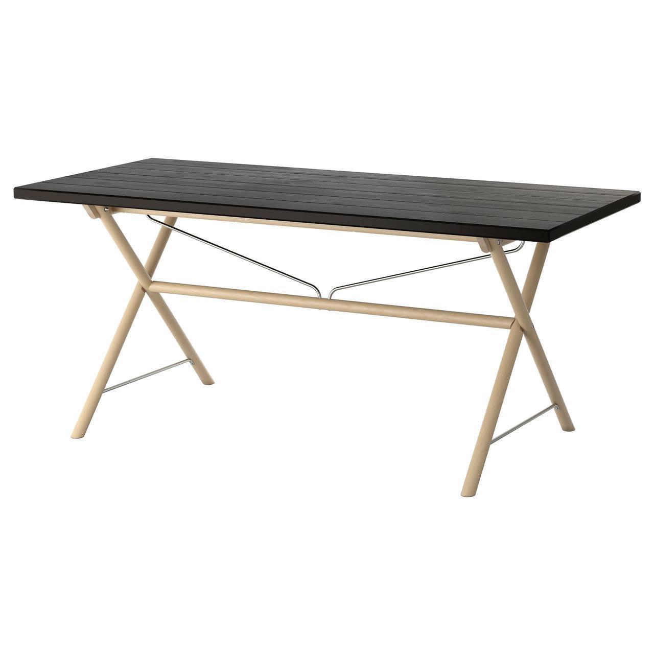 IKEA RYGGESTAD Стол, черный, Дальсгульт береза  (791.671.86)