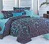 Комплект постельного белья двуспальный, 180х220см ранфорс на резинке 100% хлопок. (арт.12109)