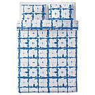 IKEA TANKVARD Комплект постельного белья, решетка синий  (304.347.61), фото 2