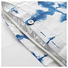 IKEA TANKVARD Комплект постельного белья, решетка синий  (304.347.61), фото 3