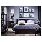 IKEA MALM Кровать высокая, черно-коричневый  (499.292.29), фото 5