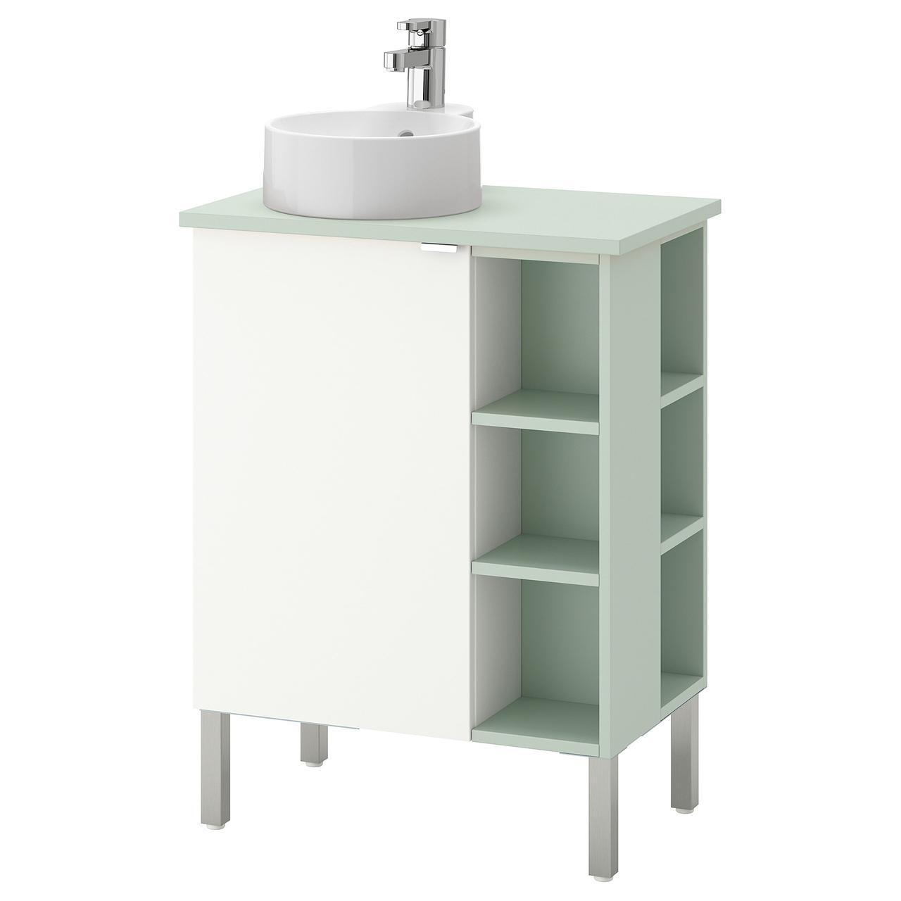 IKEA LILLANGEN/VISKAN/GUTVIKEN Шкаф под умывальник с раковиной, белый, (792.065.93)