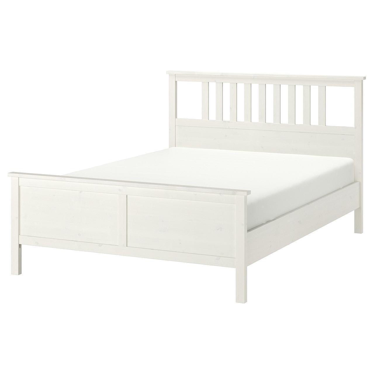 IKEA HEMNES Кровать, белая Морилка, Лурой  (790.022.75)