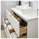 IKEA GODMORGON/TOLKEN/HORVIK Шкаф под умывальник с раковиной, Ресжöн белый, белый  (892.473.76), фото 2