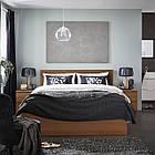 IKEA MALM Кровать высокая, коричневый шпон из окрашенного ясеня, Леирсунд  (391.570.71), фото 7
