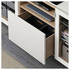 IKEA BESTA Тумба под телевизор, белый стаинедед дуб, Сельсвикен глянцевый/белый (991.968.47), фото 3
