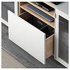 IKEA BESTA Тумба под телевизор, белый стаинедед дуб, Сельсвикен глянцевый/белое (691.967.97), фото 3