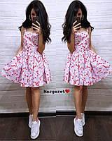 Женское летнее легкое платье из хлопка  РАЗНЫЕ ЦВЕТА
