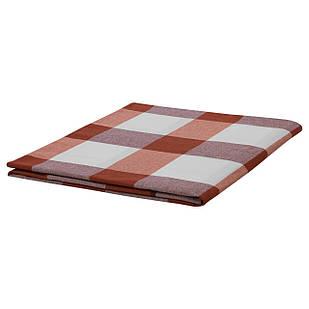 IKEA RUTIG Скатерть, красная решетка  (303.640.94)