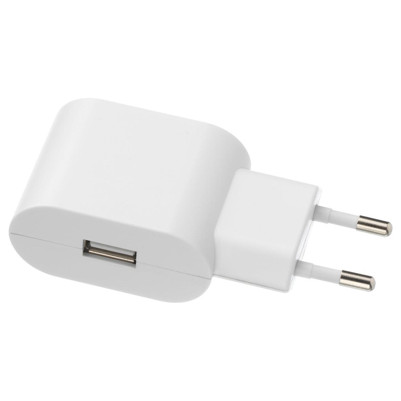 IKEA KOPPLA Зарядное устройство USB, 1 порт, белый  (404.122.78)