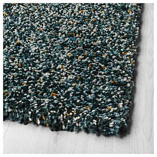 IKEA VINDUM Ковер с длинным ворсом, синий/зеленый  (703.449.85)