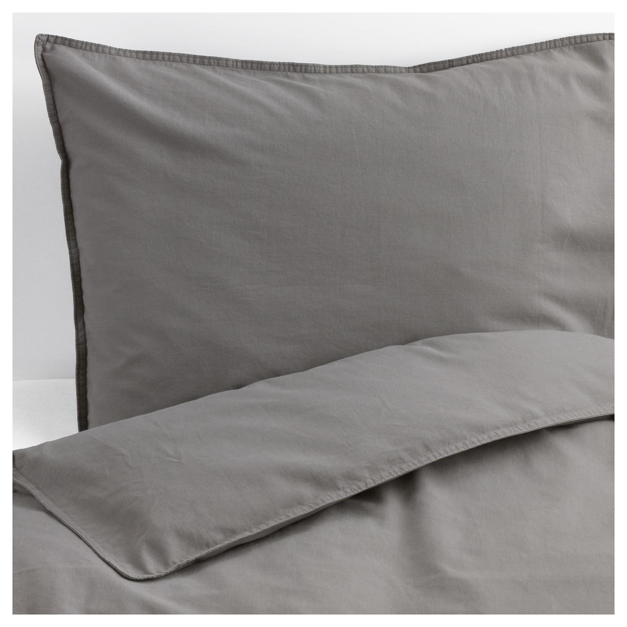 IKEA ANGSLILJA Комплект постельного белья, серый  (704.012.64)