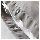 IKEA ANGSLILJA Комплект постельного белья, серый  (704.012.64), фото 2