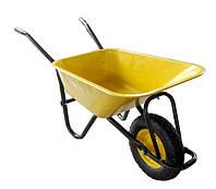 Тачка строительная «BUDMONSTER», кузов желтый (80 л, г/п 200 кг)