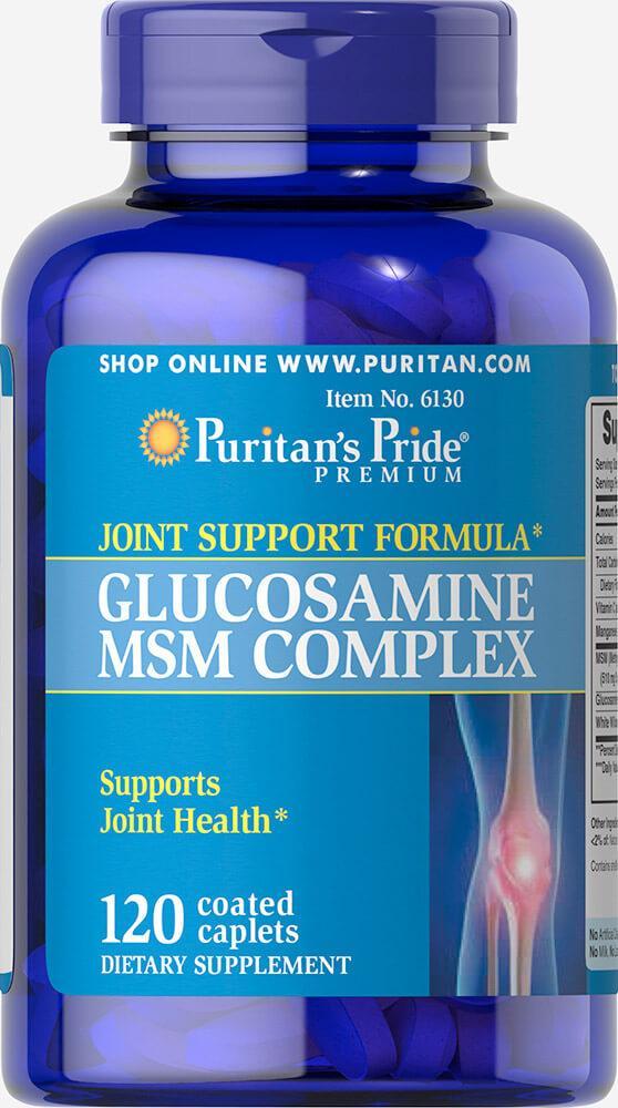 Для суставов и связок Puritan's Pride - Glucosamine MSM Complex (120 капсул)