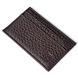 Картхолдер шкіряний на 4 картки, чорний миниформат, фото 3