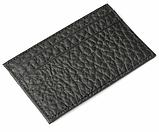 Картхолдер шкіряний на 4 картки, чорний миниформат, фото 2