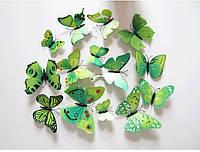 Интерьерные бабочки 3Д (зеленые)