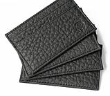 Картхолдер шкіряний на 4 картки, чорний миниформат, фото 4