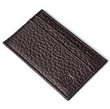 Картхолдер шкіряний на 4 картки, чорний миниформат, фото 5