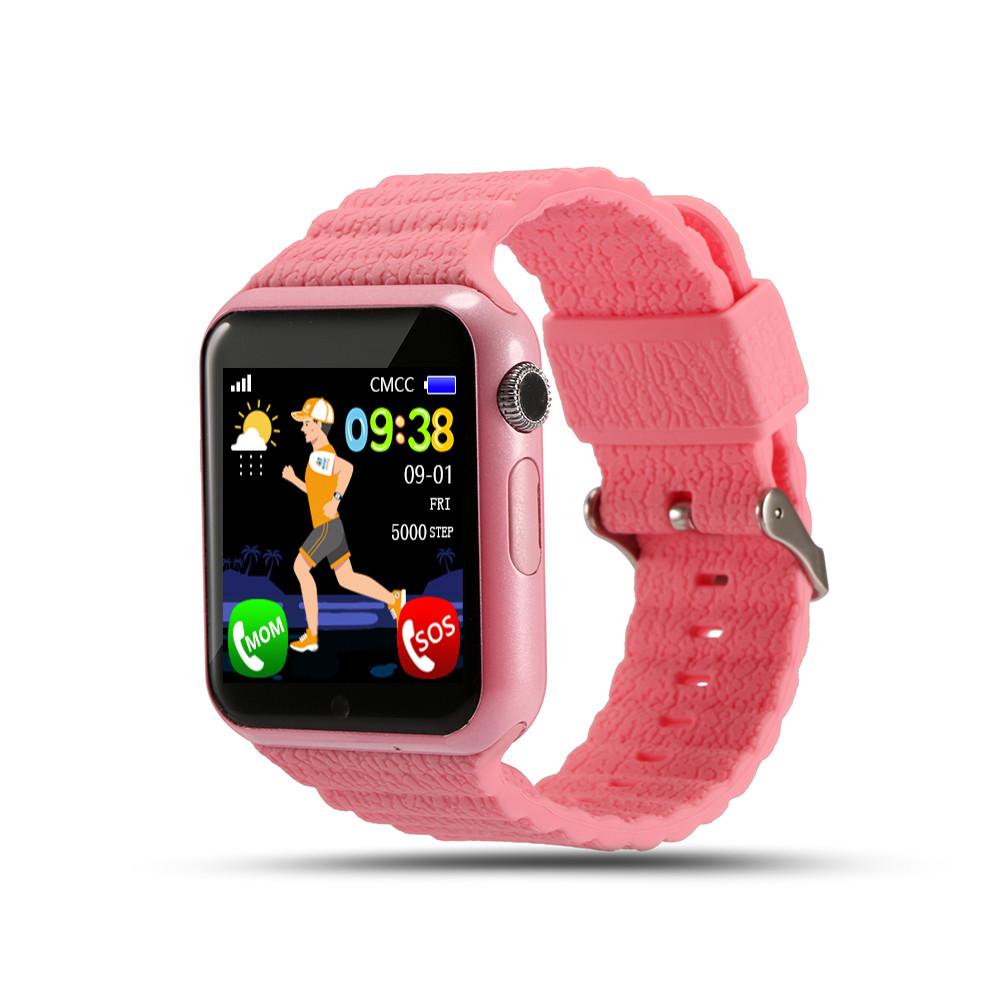 Умные детские часы Baby Smart Watch v7k Розовые (hub_Kcyg56049)