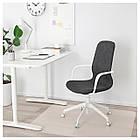 IKEA LANGFJALL Рабочий стул, темно-серый, белый  (292.528.65), фото 2