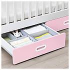 IKEA STUVA/FRITIDS Детская кроватка с ящиками, светло-розовый  (792.672.80), фото 5