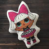 "Подушка-метрика (именная подушка) ""Кукла LOL"" Diva"