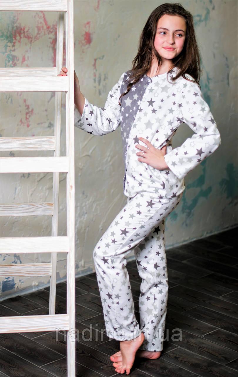 Пижама Eirena Nadine (753-46) Звёздочки рост 146/36 белая