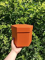 Коробка шестигранная с крышкой