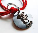 Адресник с гравировкой по фото кулон для собак жетон для крупных пород, фото 2