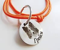 Адресник с гравировкой по фото кулон для собак жетон для крупных пород