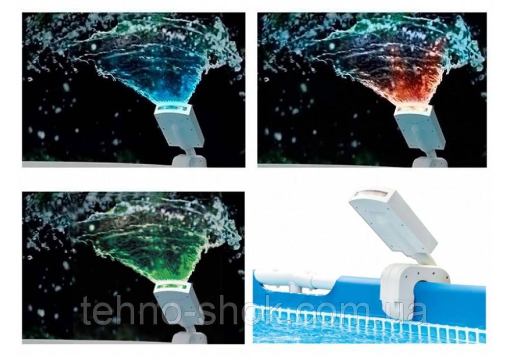 Intex 28089, фонтан для бассейнов с подсветкой воды