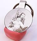 Подарочный брелок с гравировкой по фото кулон жетон родным и близким, фото 3