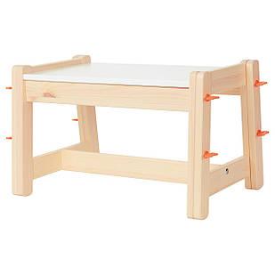 IKEA FLISAT Детская скамья, регулируемая  (802.907.79)