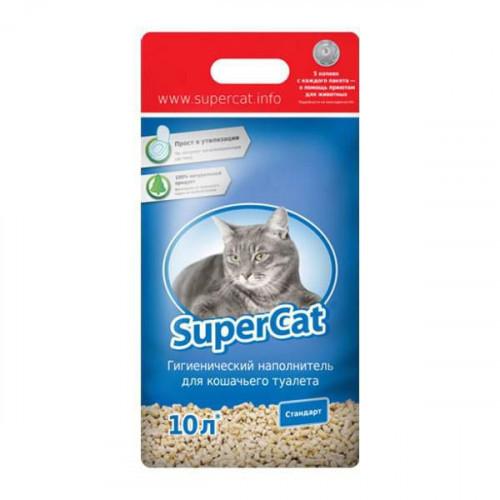 Supercat Древесный Наполнитель Для Туалета Стандарт, 3 Кг (Синий)
