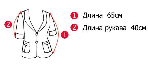 Схематическое изображение жакетов женских Виктория-1 с основными замерами
