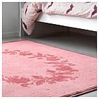 IKEA RARING Ковер с коротким ворсом, розовый  (903.568.02), фото 6