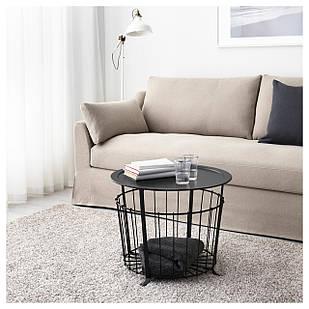 Стол IKEA GUALOV с отделением для хранения, черный  (703.403.79)