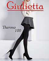 Теплые колготки из плотной  микрофибры с эффектом 3D ТМ Giulietta (размер 3)