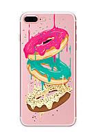 Чехол Print fashion для iPhone 8 Plus с принтом Пончики (r_i 46)