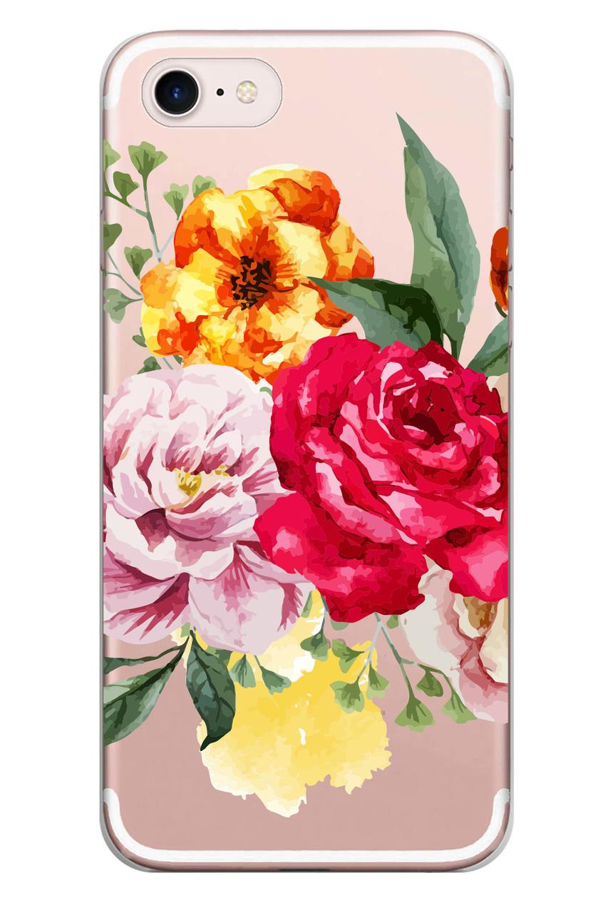 Чехол Print fashion для iPhone 7 с принтом Цветы (r_i111).
