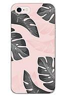 Чехол Print fashion для iPhone 8 с принтом Листья (r_i 98)
