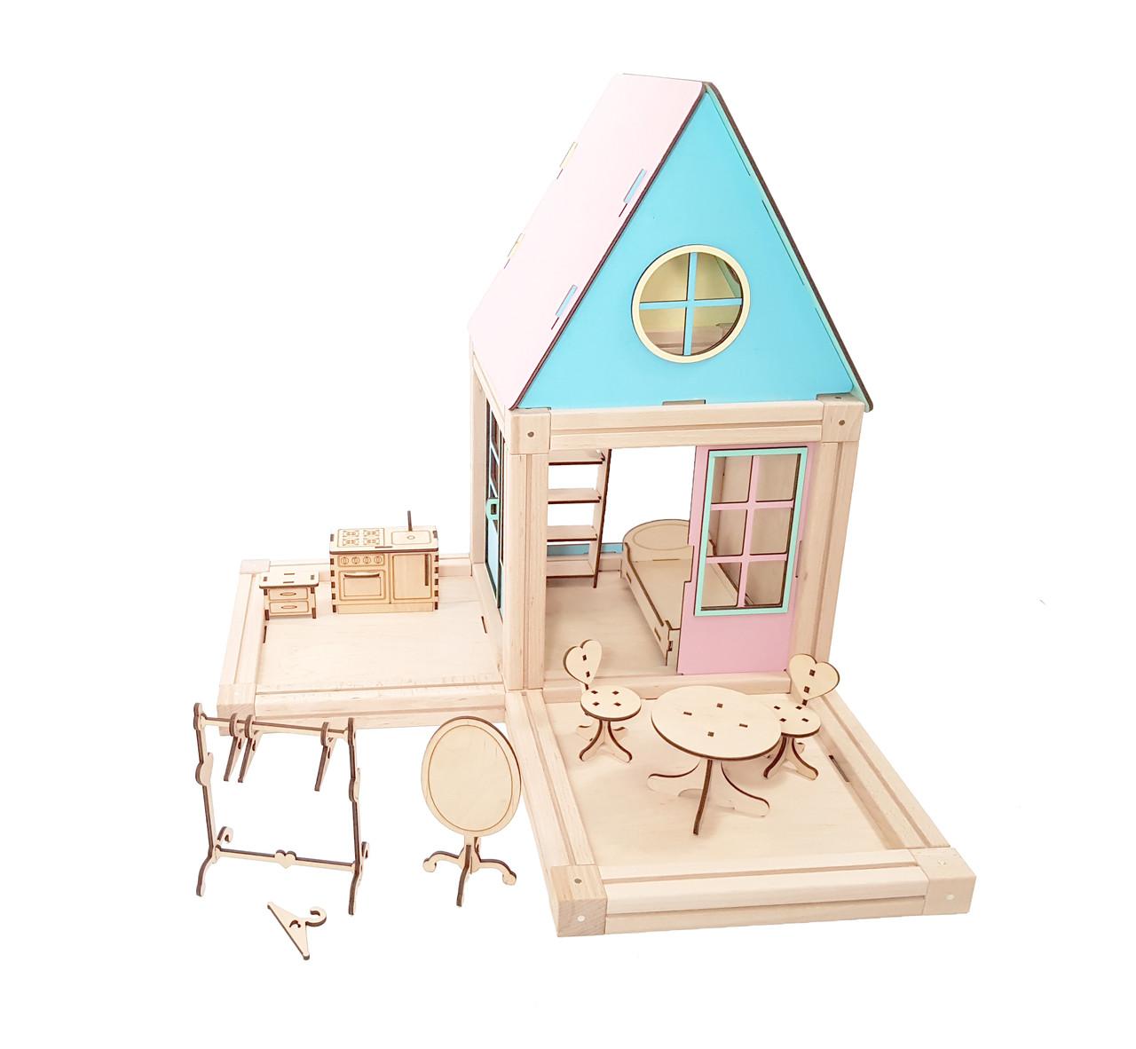 Магнитный деревянный конструктор Woodyco Mini 51 деталь (75555)