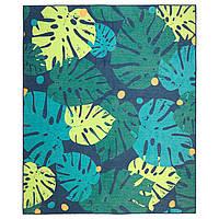 IKEA URSKOG Ковер безворсовый, листья, зеленый (003.939.03)