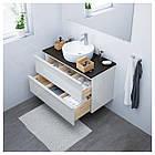IKEA GODMORGON/TOLKEN/TORNVIKEN Шкаф под умывальник с раковиной, глянцевый белый, антрацит  (591.852.52), фото 2