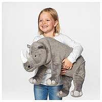 IKEA DJUNGELSKOG Мягкая игрушка, носорог (704.085.76)