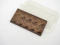 Пластиковая форма для шоколада Плитка Он и Она